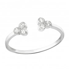 Open - 925 Sterling Silver Rings with Zirconia stones A4S37393