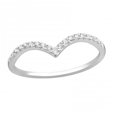 Heart - 925 Sterling Silver Rings with Zirconia stones A4S37403