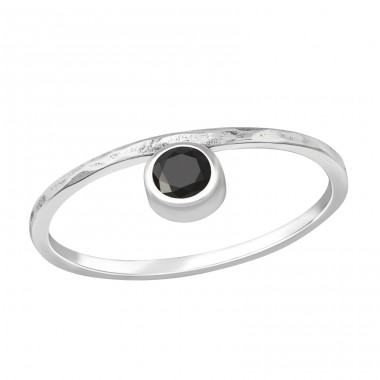 Round - 925 Sterling Silver Rings with Zirconia stones A4S37640