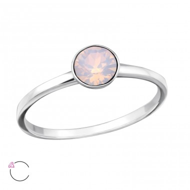 Single Stone - 925 Sterling Silver Rings with Zirconia stones A4S37976