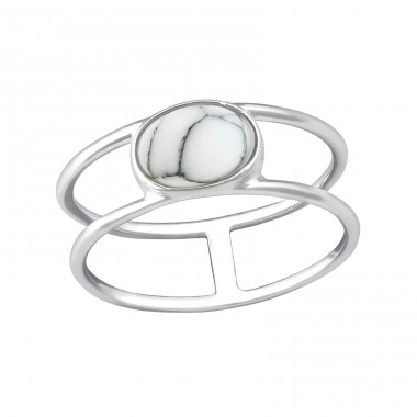 Oval - 925 Sterling Silver Rings with Zirconia stones A4S37980