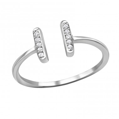 Open - 925 Sterling Silver Rings with Zirconia stones A4S37981