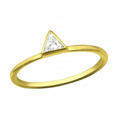 Triangle - 925 Sterling Silver Rings with Zirconia stones A4S37982