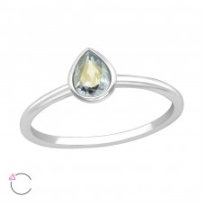 Pear - 925 Sterling Silver Rings with Zirconia stones A4S38061