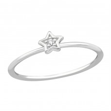Star - 925 Sterling Silver Rings with Zirconia stones A4S38367
