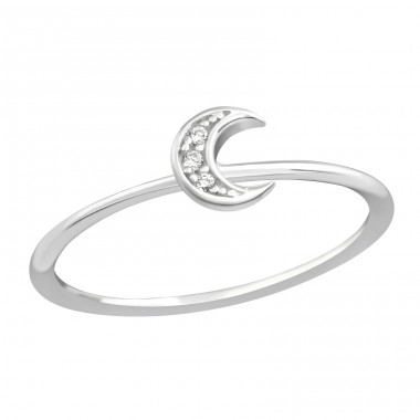 Moon - 925 Sterling Silver Rings with Zirconia stones A4S38368