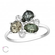 Geometric - 925 Sterling Silver Rings with Zirconia stones A4S38446