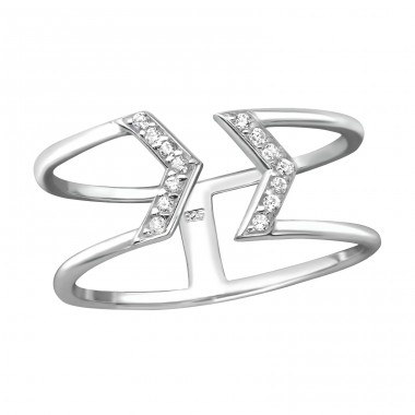 Arrow - 925 Sterling Silver Rings with Zirconia stones A4S38520