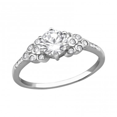 Sparkling - 925 Sterling Silver Rings with Zirconia stones A4S38521
