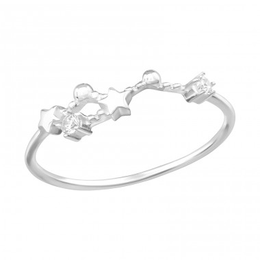 April-Taurus Constellation - 925 Sterling Silver Rings with Zirconia stones A4S38592