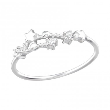 May-Gemini Constellation - 925 Sterling Silver Rings with Zirconia stones A4S38593