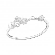 June-Cancer Constellation - 925 Sterling Silver Rings with Zirconia stones A4S38594