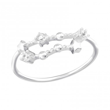 December-Capricorn Constellation - 925 Sterling Silver Rings with Zirconia stones A4S38596