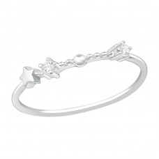 January-Aquarius - 925 Sterling Silver Rings with Zirconia stones A4S38658