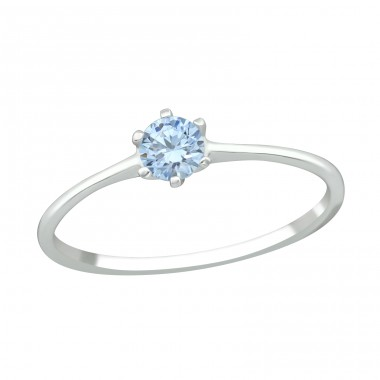 Solitaire - 925 Sterling Silver Swarovski Rings A4S38870