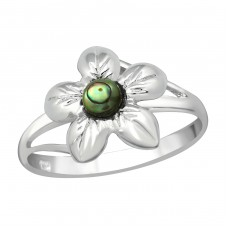 Flower - 925 Sterling Silver Rings with Zirconia stones A4S38968