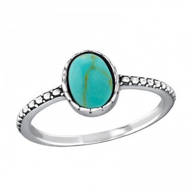 Oval - 925 Sterling Silver Rings with Zirconia stones A4S39078