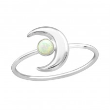 Moon - 925 Sterling Silver Rings with Zirconia stones A4S39079