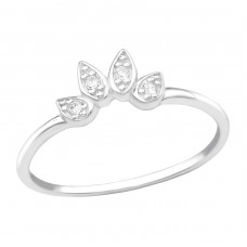 Leaves - 925 Sterling Silver Rings with Zirconia stones A4S39222