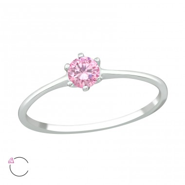 Solitaire - 925 Sterling Silver Swarovski Rings A4S39247