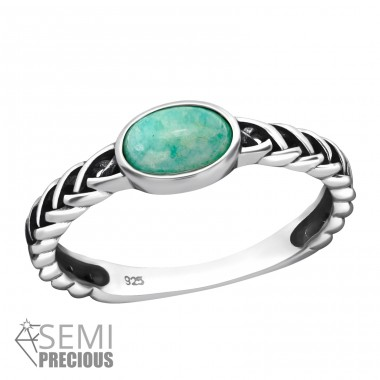 Oval - 925 Sterling Silver Rings with Zirconia stones A4S39248