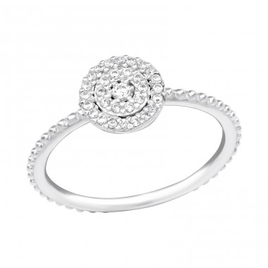 Sparkling - 925 Sterling Silver Rings with Zirconia stones A4S39252