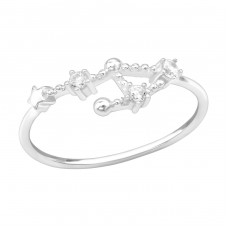 September-Libra - 925 Sterling Silver Rings with Zirconia stones A4S39350