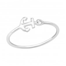 Anchor - 925 Sterling Silver Rings with Zirconia stones A4S39374