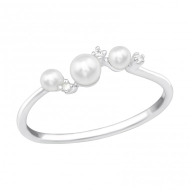 Luminous Pearl - 925 Sterling Silver Rings with Zirconia stones A4S39436