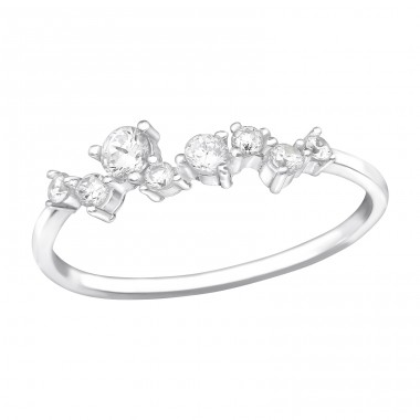 Abstract - 925 Sterling Silver Rings with Zirconia stones A4S39696