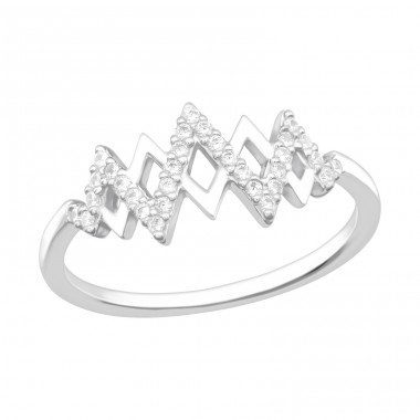 Heartbeat - 925 Sterling Silver Rings with Zirconia stones A4S40165