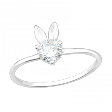 Rabbit - 925 Sterling Silver Rings with Zirconia stones A4S40174