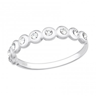 Dot Link - 925 Sterling Silver Rings with Zirconia stones A4S40185