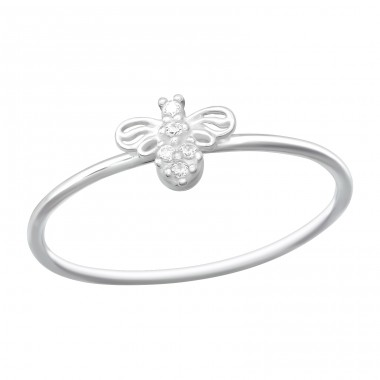 Bee - 925 Sterling Silver Rings with Zirconia stones A4S40258