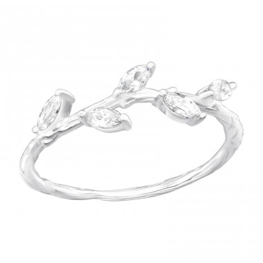 Branch - 925 Sterling Silver Rings with Zirconia stones A4S40608