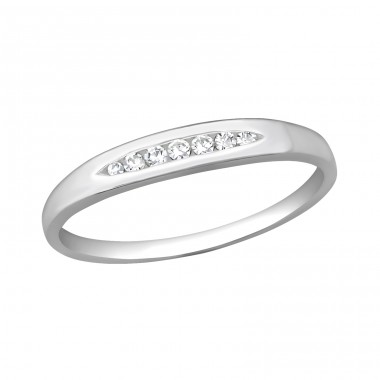 Band - 925 Sterling Silver Rings with Zirconia stones A4S40697