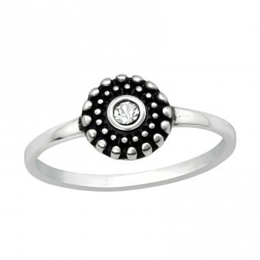 Round - 925 Sterling Silver Rings with Zirconia stones A4S40748