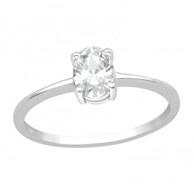 Solitaire - 925 Sterling Silver Rings with Zirconia stones A4S40929