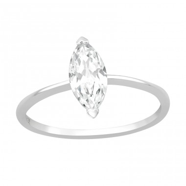 Marquise - 925 Sterling Silver Rings with Zirconia stones A4S40932