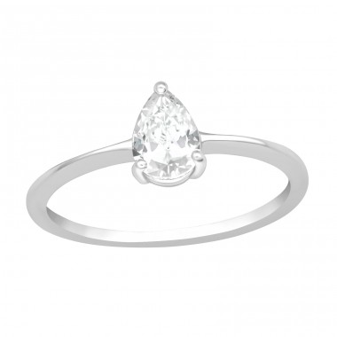 Pear - 925 Sterling Silver Rings with Zirconia stones A4S40933