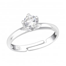 Square - 925 Sterling Silver Rings with Zirconia stones A4S6998