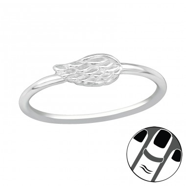 Wing - 925 Sterling Silver Midi Rings A4S19935