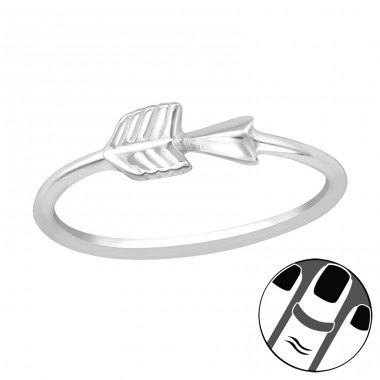Arrow - 925 Sterling Silver Midi Rings A4S19937