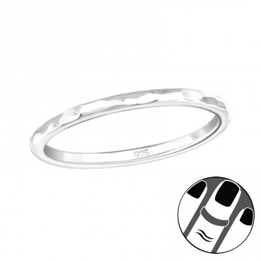 Rock - 925 Sterling Silver Midi Rings A4S19939