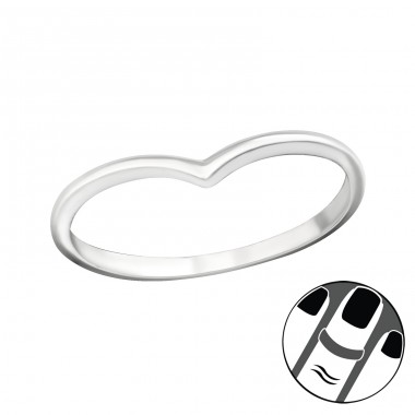 Heart - 925 Sterling Silver Midi Rings A4S19941