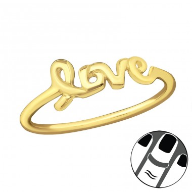 Love - 925 Sterling Silver Midi Rings A4S19947