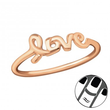 Love - 925 Sterling Silver Midi Rings A4S19948