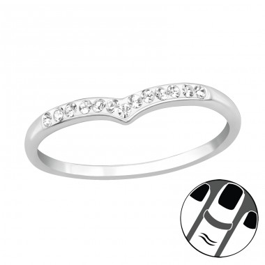 Heart - 925 Sterling Silver Midi Rings A4S20206