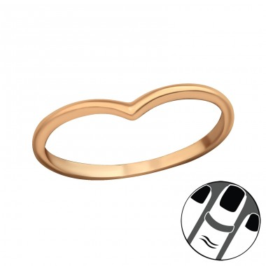 Heart - 925 Sterling Silver Midi Rings A4S20668