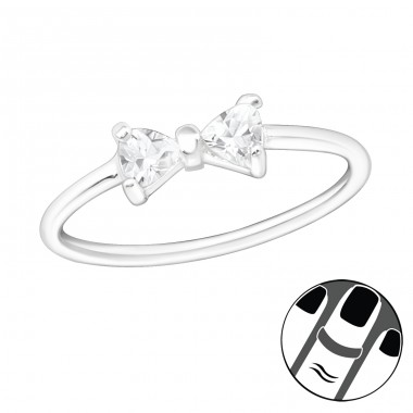 Bow - 925 Sterling Silver Midi Rings A4S20723